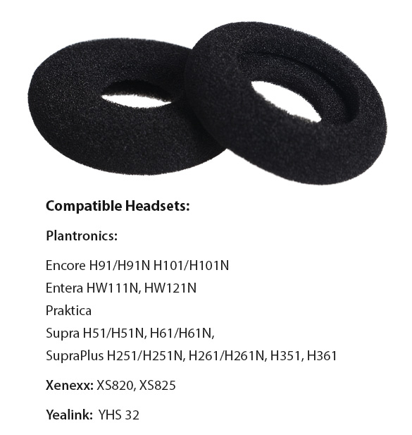 headset foam ear cushion donut
