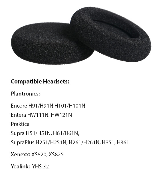 headset foam ear cushion